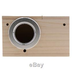 3Pcs Wood Breeding Nest Box Cages Mating Nesting Aviary House withStick XL