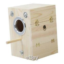 3x Wood Breeding Box for Lovebirds, Parrots Mating Box Conure Finches Birdcage