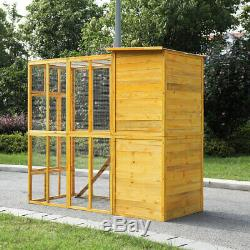 5.6ft H Wood Large Catio Outside cat enclosure Birds Small Pet House Waterproof
