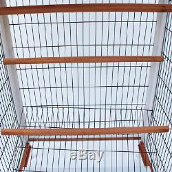 64 Bird Cage Cockatiel Canary Finch Conure Play House with 3 Wooden Perches