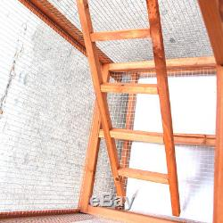65 Wood Aviary with Metal Grid Flight Cage for Finches Bird House Pigeon parrot