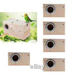 6Pc Wood Nest Box Nesting Boxes For Small Birds, Budgies & Finches S