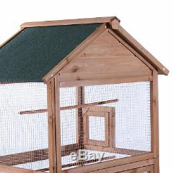 70 Large Bird Cage Wooden Outdoor Crate Pet Parrot Canary Parakeet Play House