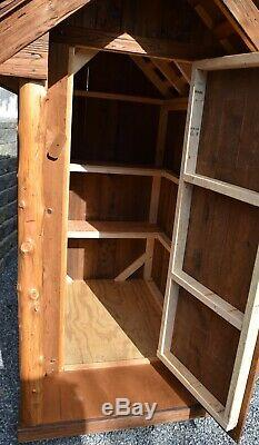 Amish Outhouse Garden Shed made of Reclaimed Wood with Porch LOCAL PICK UP