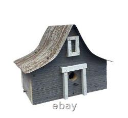 Antique A-Frame Bird House withWire Hanger & Clean Out- Amish Made in USA