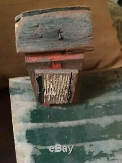 Antique birdhouse. Penna Dutch country. Original paint. 2 outhouses in back. Wood