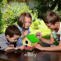 Art Craft Wood Toys 3-D Painting Puzzle Bird House DIY Wooden Assembly Modle 6