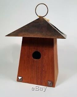 Arts & Crafts Bungalow Birdhouse by Heartwood Cypress/Mahogany Woods
