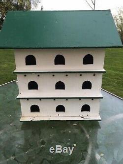 BIRDHOUSE ANTIQUE Huge OLD Chippy Solid Wood HANDMADE PA. DUTCH 18 Rooms
