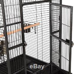 BN 68 Bird House Metal / 5 Feeding Bowls / 2 Wooden Perches / Removable Tray