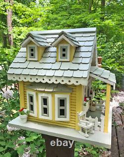 BREATHTAKING Nesting Box Birdhouse by Country Nesting, Yellow Cottage
