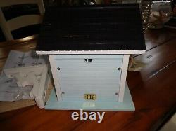 Bird House Wood Victorian Cottage NWT Detailed