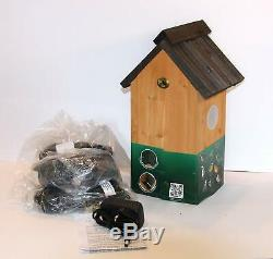 Bird Nest Box with Camera Watch Listen Record on TV Full Colour Share 30m