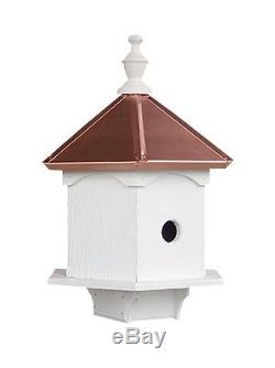 BirdHouse Double Bluebird Amish-made with Copper Roof