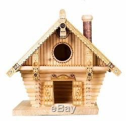 Birdhouse Bird feeder Terem Large hand-crafted feeder house of natural wood