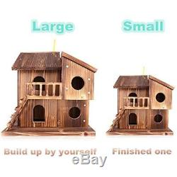 Birdhouse Wood Handmade Garden Hanging Wildlife Outdoor Yard Home Decor