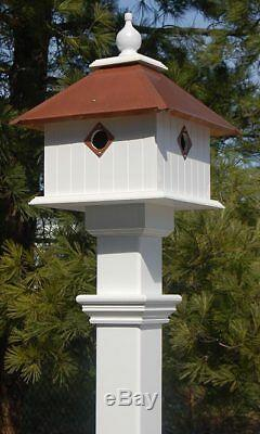 CARRIAGE BIRD HOUSE WITH HAMMERED COPPER ROOF by WING & A PRAYER