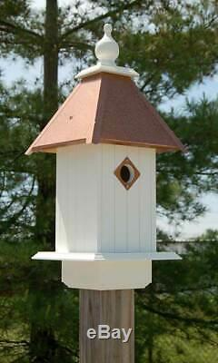 CATHEDRAL BIRD HOUSE WITH HAMMERED COPPER ROOF by A WING & A PRAYER