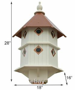 CHATEAU BIRD HOUSE WITH HAMMERED COPPER COLORED ROOF by A WING & A PRAYER