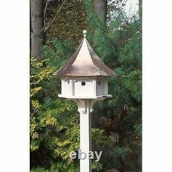 Carousel Bird House with Polished Copper Roof by Lazy Hill Multi
