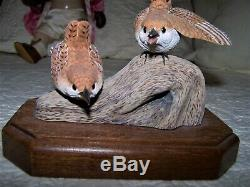 Carved Wood House Wren Birds