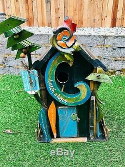Catch A Wave Beautiful Hand Crafted & Painted Original Birdhouse