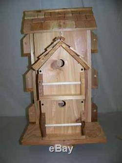 Cedar Birdhouse With 10 Separate Compartments. Cedarnest Handmade Free Shipping