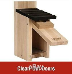 Cedar Bluebird Box House Crafted from Insect and Rot Resistant Dark Wood