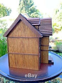 Collectable Artist Made And Signed Wood Bird House Detailed 2009