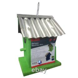 Colourful Wooden Wild Small Bird Nesting Box Warm Shelter Waterproof Roof