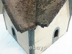Decorative Painted Wood Barn Form Bird House Early 20th Century