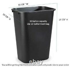Double Wood trash bin Unfinished Amish handmade with trim plastic cans included