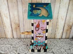 Early 1997 Rare Sarah Grant Sticks Wood Hand Painted Birdhouse 13in