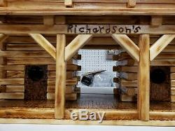Extra Large Custom Barn Stable Wooden Bird House for Pole Mount 22.5x10.5x15.5