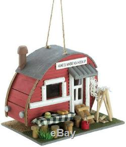Gifts and Decor Vintage Trailer Camper Camping Theme Wood Bird House