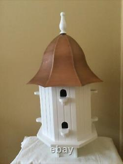 Good Directions Dovecote Manor Bird House with Pure Copper Roof BH204WWHT