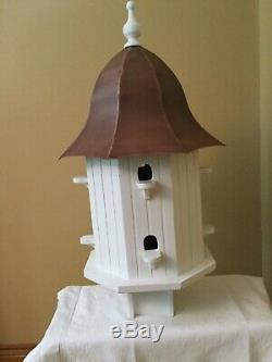 Good Directions Dovecote Manor Octagon Birdhouse with Copper Roof BH204WWHT