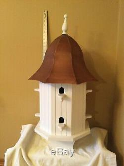 Good Directions Dovecote Octagon White Birdhouse with Copper Roof