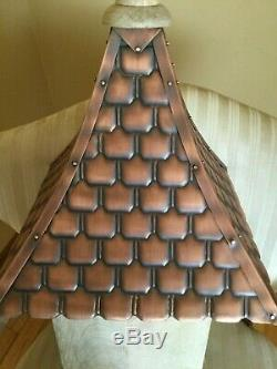 Good Directions Mango Wood with Copper Shingled Roof Bird House
