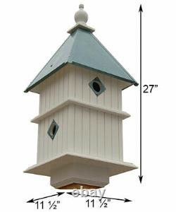 HOLLY BIRD HOUSE WITH VERDIGRIS ROOF by A WING & A PRAYER