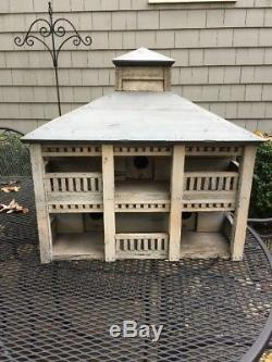 Hand Made Wooden 3 Hole Large Decorative Bird House