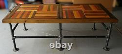 Handcrafted Coffee Tables from repurposed lumber and new black pipe legs