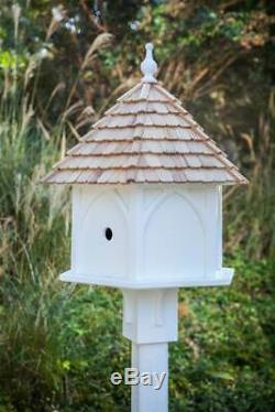 Handcrafted Grande Bird House in White ID 3793211
