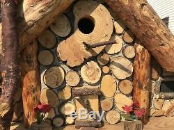 Handmade Family Wood Bird House Found Wood In The Forest And Under Water
