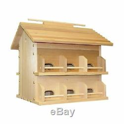Heath Outdoor Products Wood Starling Resistant Martin Bird House Multicolor
