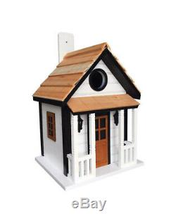 Home Bazaar 9.45 in. H x 6.14 in. W x 7 in. L Wood Bird House Case Pack of 8