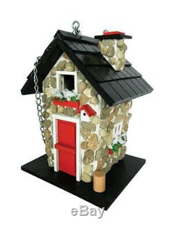 Home Bazaar 9.45 in. H x 7.1 in. W x 6.3 in. L Wood Bird House Case of 8