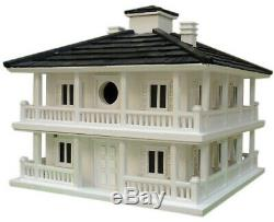 Home Bazaar Bird House Removable Walls Free-Standing Hardware Wood White