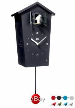 Kookoo Birdhouse Watch Black NewithBoxed Modern Design Cuckoo 4 Birds/Pendulum