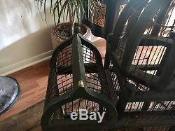 Large Antique Victorian Dome topped TAJ MAHAL Style Wood & Wire BIRD House CAGE